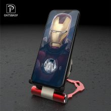 OATSBASF Qi Wireless Charger Iron Man Portable for iPhone8 8plus samsung xiaomi9 Quick Charging Pad Foldable With Holder charger