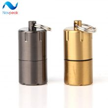 1pc Mini Compact Kerosene Lighter Capsule Gasoline Lighter Inflated Key Chain Petrol Wheel Lighter Grinding Outdoor Tools